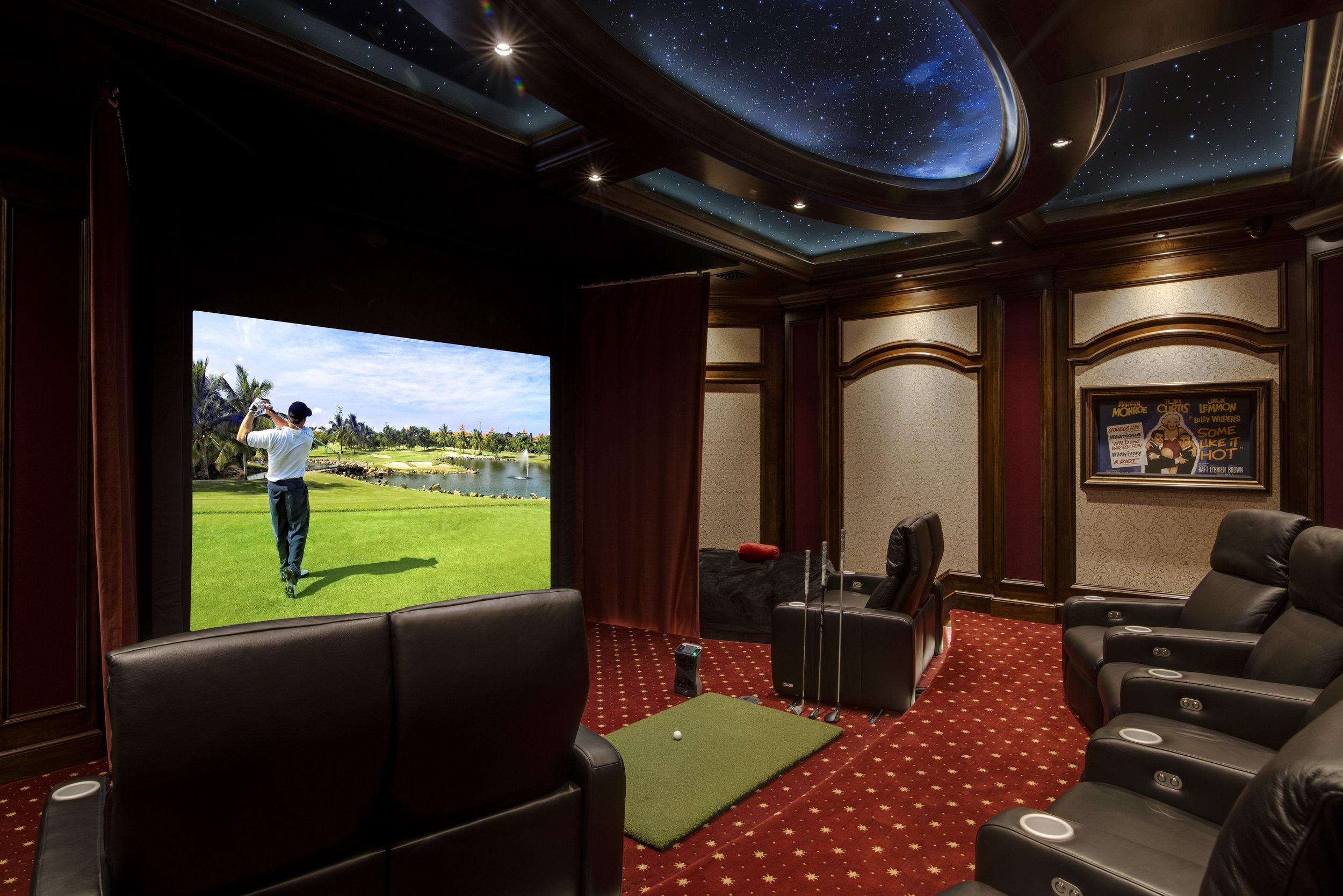 Home Theater Amp Golf Simulator In Lake Nona Totalcare Orlando