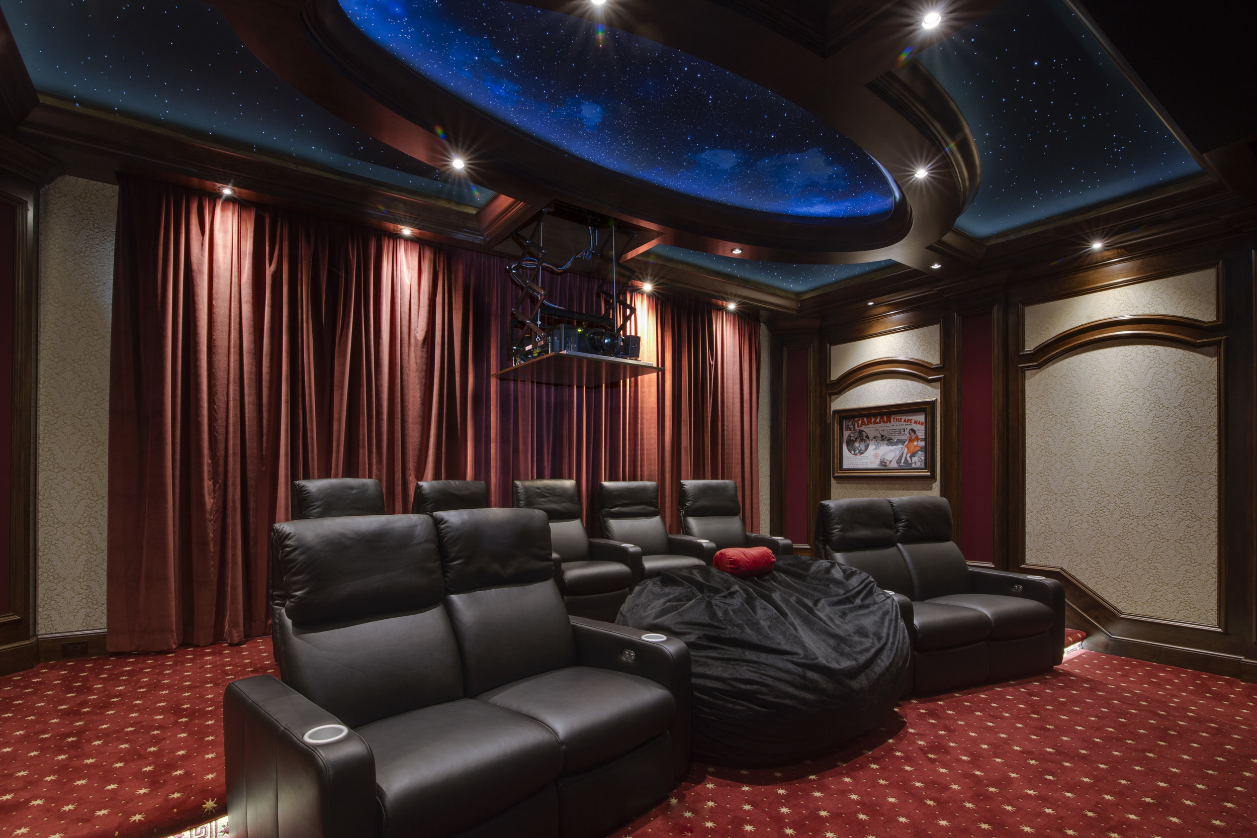 100 curtains home theater curtains motorized movie for Motorized curtains home theater